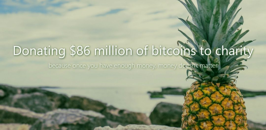 Pineapples and Ecstasy: Charitable Giving in the Bitcoin Era